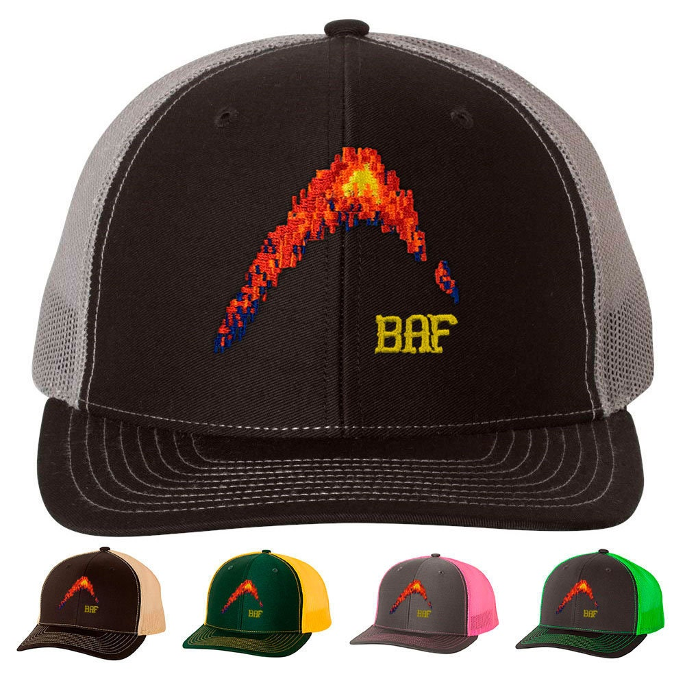 51630e7e graphin' BAF - Embroidered Snap-Back, Structured Trucker Caps and Hats by  Bass Attitude Fishing