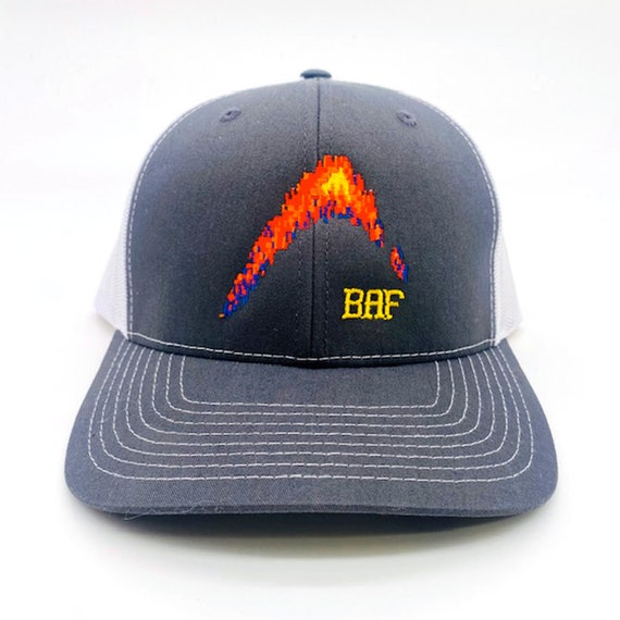 graphin' BAF - Embroidered Snap-Back, Structured Trucker Caps and Hats by Bass Attitude Fishing