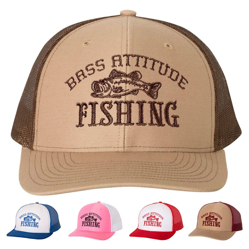 ff9eab9c Bass Attitude Fishing Embroidered Logo - Richardson Structured Snap-back Trucker  Caps and Hats
