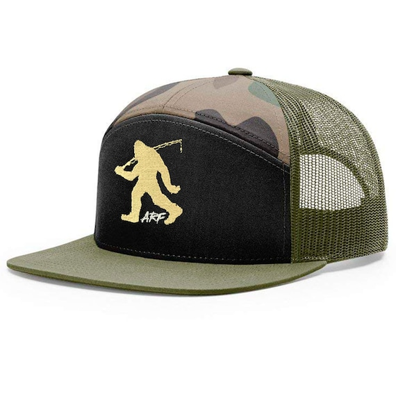 Bigfoot Fishing - ARF Signature Cap  - Embroidered 7-Panel Snap-back - in Camo/Loden