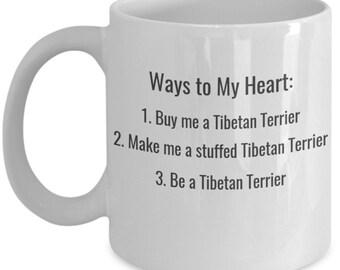 Funny Tibetan Terrier Coffee Mug - Ways to My Heart - Unique Gift