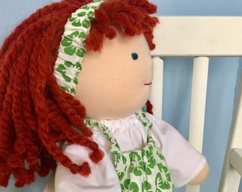 """Romper, Blouse, and Headband for 16"""" Waldorf doll, Cloth doll clothes, Handmade doll clothes, Steiner doll clothes, Waldorf doll clothes"""
