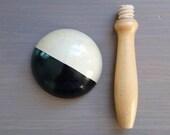 Two Tone Vintage Darning Mushroom Treen Sock Darner ダーニングマッシュルーム