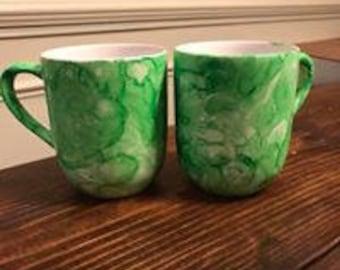 Watercolor Hand Painted Mugs