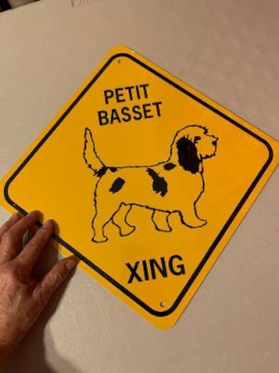 petit basset griffon vendeen xing lustige aluminium hund