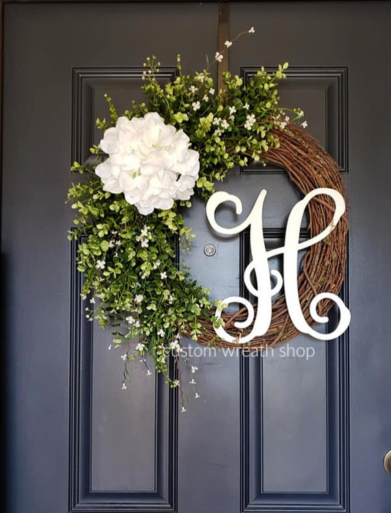 Housewarming Wreath Mother/'s Day Wreath Everyday Wreath Spring or Summer Wreath Welcome Wreath Boxwood Wreath