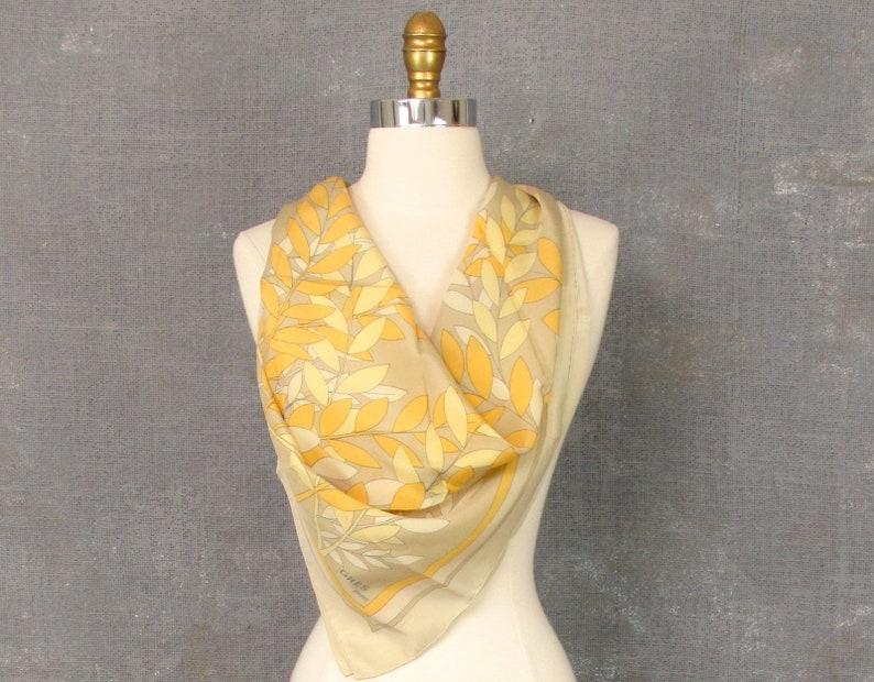 096e4f67da313 Paris Silk Scarf Gres Silk Scarf Square Scarf Yellow | Etsy