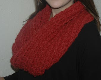 Cranberry Infinity Scarf/ Infinity Scarf/ Chunky Infinity Scarf/ Chunky Scarf