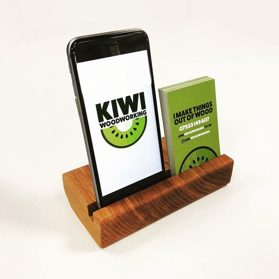 Solid Cherry Iphone Stand Business Card Holder Handmade In Etsy