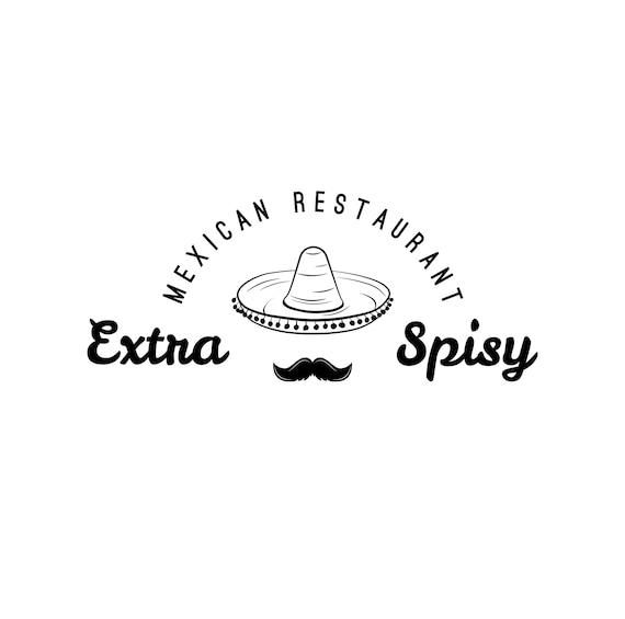 Mexican restaurant logo SVG Mustache Sombrero Mexican hat  96807d2da0f