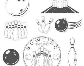Bowling Svg | Bowling Ball | Element Vector Illustration | Digital cutting file | Silhouette Cut | Vector File | Entertainment