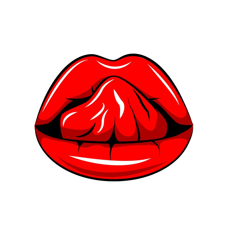 0b25d5e3 Sexy Lips SVG Tongue Red Lipstick Woman's mouth | Etsy