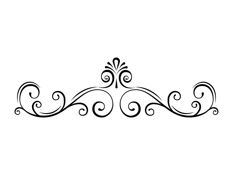 Page border SVG Swirl Decorative filigree divider Scroll ...