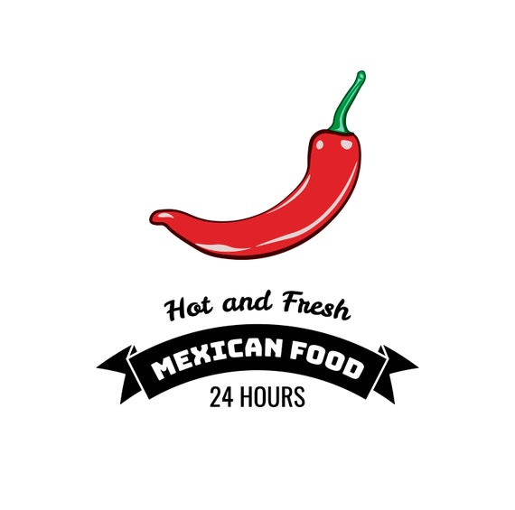 Chili Pepper Svg Mexican Food Logo Mexican Cuisine Spicy Food Menu Design Vegetable Icon Digital File Vector Illustration