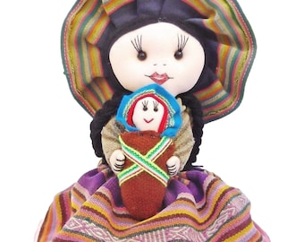 Beautiful Cusco Doll Peruvian Inca Fabric Handmade Ideas For Mom Collectable Doll Home Decor Special Gifts Mother's Day