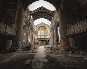 Abandoned Church. printable. instant download.