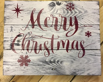 more colors large christmas pallet sign