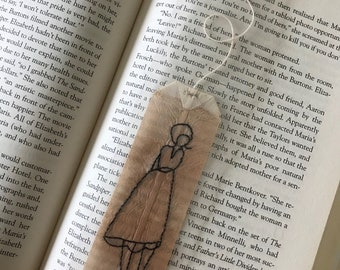 Embroidered Teabag Bookmark