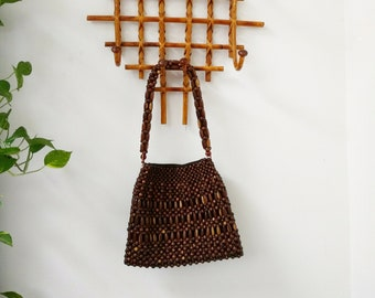 b6d761c1292 Wood bead bag | Etsy
