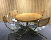 Rattan and brass dining table set NO SHIPPING CURRENTLY
