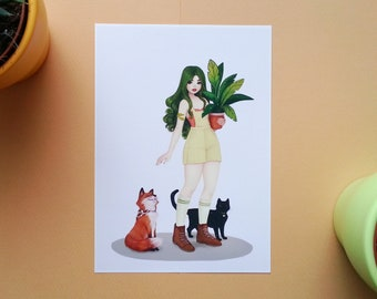 Greenie's Love - Art Print - Illustration