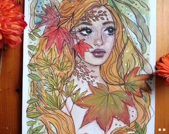 Autumn Leaves - Original Art - Watercolour - Illustration