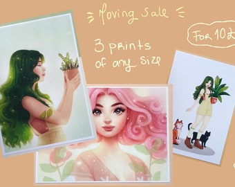 MOVING SALE - Buy 3 for the price of 1/2 - Art Prints - Illustration