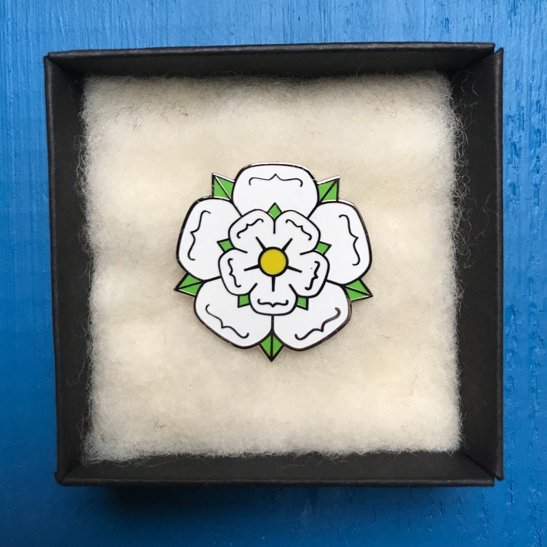 I Love Yorkshire County White Rose Pin Badge