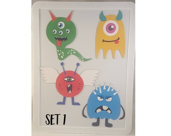 Magnetic Monster Buddies - 4 Magnetic Monster Children's Playset