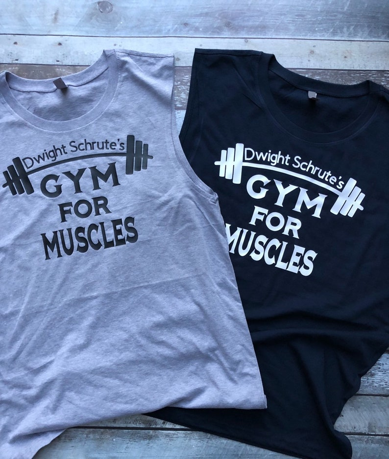 dc87142a Dwight Schrute's gym for muscles tank top funny office | Etsy