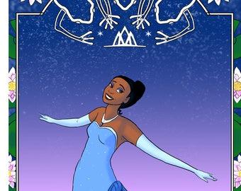 Princess Tiana art print