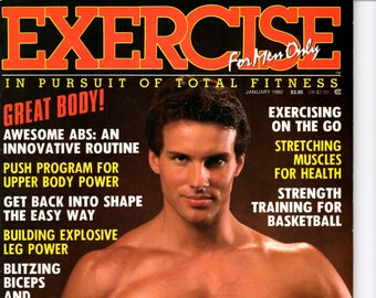 Exercise For Men Only  magazine- january 1992 - vol 8 -issue #1/ health and fitness