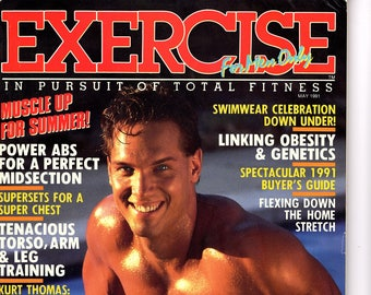 Exercise For Men Only  magazine- may 1991 - vol 7 -issue #3/ health and fitness