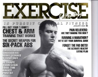 Exercise For Men Only  magazine-  january 2004  - vol 20 -issue #1/ health and fitness