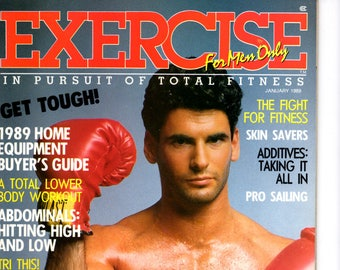 Exercise For Men Only  magazine - january  1989 - Vol 5 - issue #1/ health and fitness