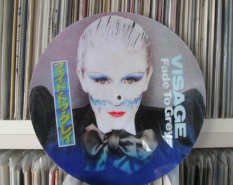 "Visage - Fade to Grey Mega Rare 12"" Maxi Single Picture Disc Promo Record Japan LP NM"