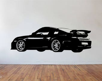 Porsche Carrera 911 996 997 GT3 GT Supercar Sportscar Vinyl Wall Art Sticker