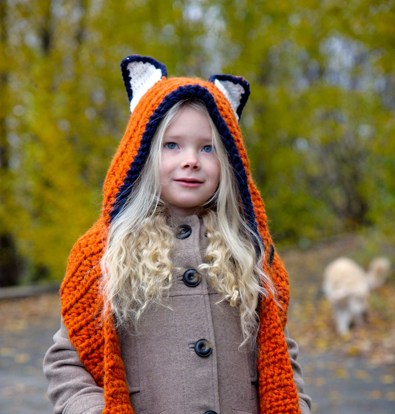 2eea8624ea9 Fox Hat Fox Hooded Scarf fox hooded cowl Fox Hoodie Fox