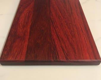 Hand made Paduak wood cutting board