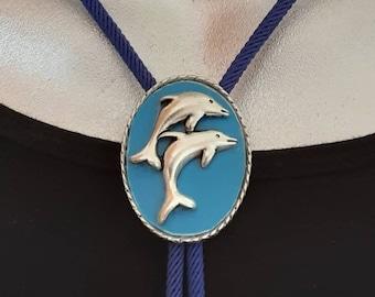 White Multi Coloured Dolphin Scrunchie