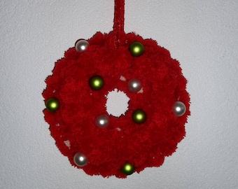 Wreath, pom pom wreath, Christmas