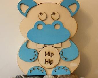 "Money box ""Pig and hippopotamus"""