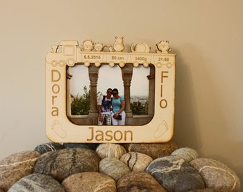 """Picture frame """"Birth memory"""" Customizable gift"""