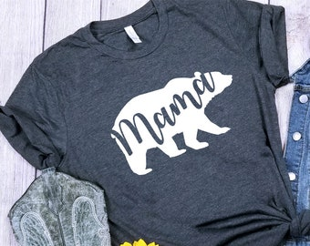 Momma Bear Shirt Expectant Mom Gift Expecting Mama T Tee Motherhood First Time