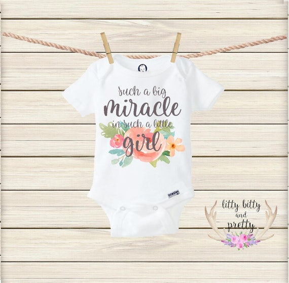 745394ac9 Such a Big Miracle in Such a Little Girl Onesie® Boho Baby