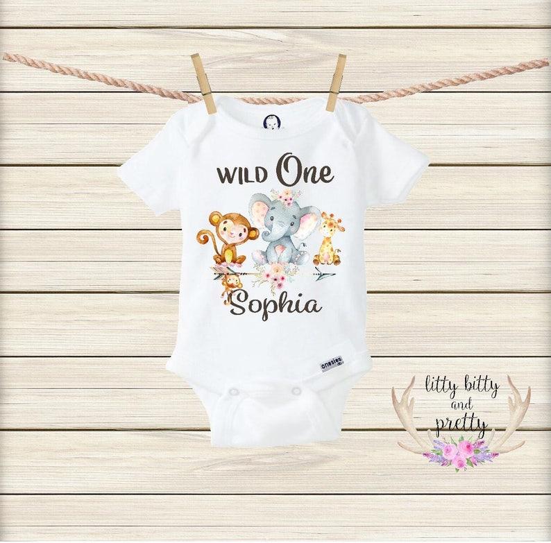 e0fddadc Wild One Boho Onesie® Boho Baby Clothes First Birthday Girl | Etsy