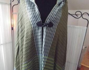 Irish style ponchos / Shawl with hood