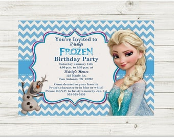 Frozen Invitation Birthday Party Etsy
