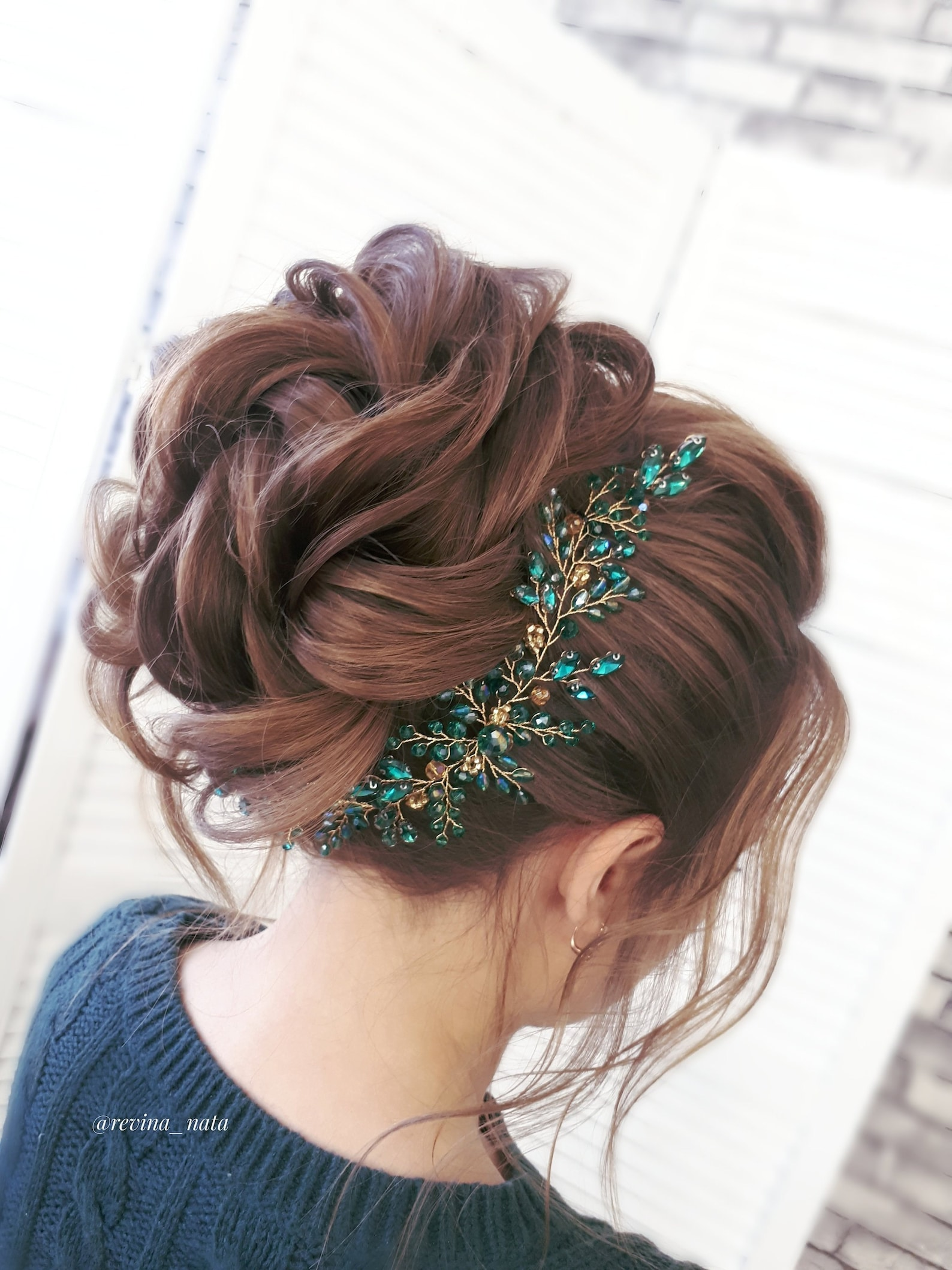 Haarschmuck Smaragdgrün