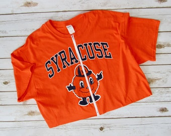 NEW Syracuse University Zip-Up Crop Tee (XL)